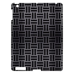 Woven1 Black Marble & Gray Brushed Metal Apple Ipad 3/4 Hardshell Case by trendistuff