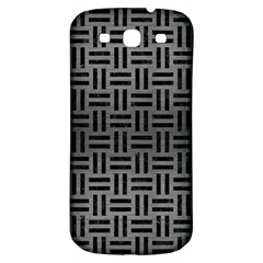 Woven1 Black Marble & Gray Brushed Metal Samsung Galaxy S3 S Iii Classic Hardshell Back Case by trendistuff