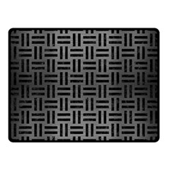 Woven1 Black Marble & Gray Brushed Metal Double Sided Fleece Blanket (small)  by trendistuff
