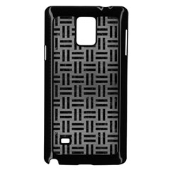 Woven1 Black Marble & Gray Brushed Metal Samsung Galaxy Note 4 Case (black) by trendistuff