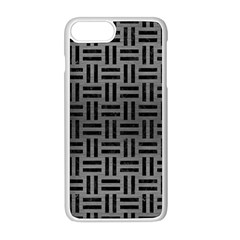 Woven1 Black Marble & Gray Brushed Metal Apple Iphone 8 Plus Seamless Case (white)