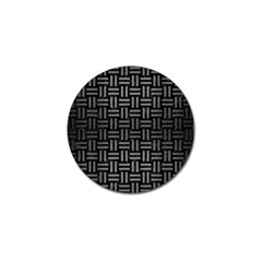 Woven1 Black Marble & Gray Brushed Metal (r) Golf Ball Marker (10 Pack) by trendistuff