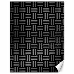 Woven1 Black Marble & Gray Brushed Metal (r) Canvas 36  X 48   by trendistuff