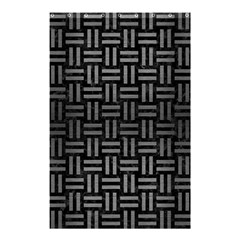 Woven1 Black Marble & Gray Brushed Metal (r) Shower Curtain 48  X 72  (small)  by trendistuff