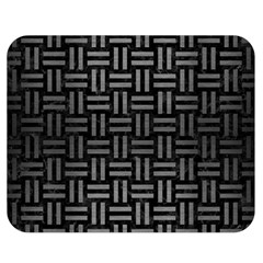 Woven1 Black Marble & Gray Brushed Metal (r) Double Sided Flano Blanket (medium)  by trendistuff