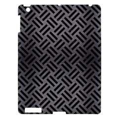 Woven2 Black Marble & Gray Brushed Metal Apple Ipad 3/4 Hardshell Case by trendistuff