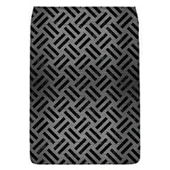 Woven2 Black Marble & Gray Brushed Metal Flap Covers (s)  by trendistuff