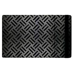 Woven2 Black Marble & Gray Brushed Metal Apple Ipad Pro 9 7   Flip Case by trendistuff