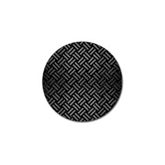 Woven2 Black Marble & Gray Brushed Metal (r) Golf Ball Marker by trendistuff