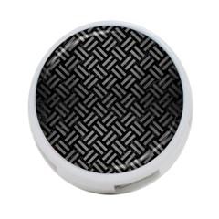 Woven2 Black Marble & Gray Brushed Metal (r) 4 Port Usb Hub (one Side) by trendistuff