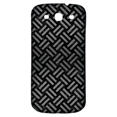 Woven2 Black Marble & Gray Brushed Metal (r) Samsung Galaxy S3 S Iii Classic Hardshell Back Case by trendistuff