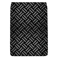 Woven2 Black Marble & Gray Brushed Metal (r) Flap Covers (s)  by trendistuff