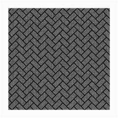 Brick2 Black Marble & Gray Denim Medium Glasses Cloth by trendistuff