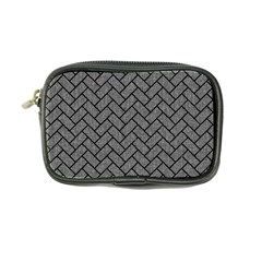 Brick2 Black Marble & Gray Denim Coin Purse by trendistuff