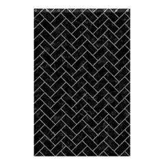 Brick2 Black Marble & Gray Denim (r) Shower Curtain 48  X 72  (small)  by trendistuff