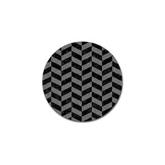 Chevron1 Black Marble & Gray Denim Golf Ball Marker (4 Pack) by trendistuff