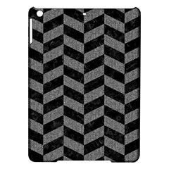 Chevron1 Black Marble & Gray Denim Ipad Air Hardshell Cases