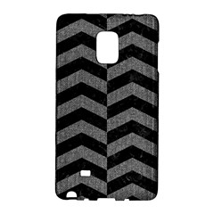 Chevron2 Black Marble & Gray Denim Galaxy Note Edge by trendistuff