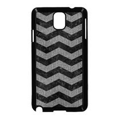 Chevron3 Black Marble & Gray Denim Samsung Galaxy Note 3 Neo Hardshell Case (black) by trendistuff