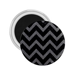 Chevron9 Black Marble & Gray Denim (r) 2 25  Magnets by trendistuff
