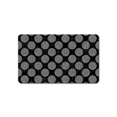 Circles2 Black Marble & Gray Denim (r) Magnet (name Card) by trendistuff