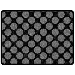 Circles2 Black Marble & Gray Denim (r) Double Sided Fleece Blanket (large)  by trendistuff