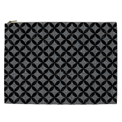 Circles3 Black Marble & Gray Denim Cosmetic Bag (xxl)  by trendistuff