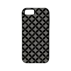 Circles3 Black Marble & Gray Denim Apple Iphone 5 Classic Hardshell Case (pc+silicone) by trendistuff
