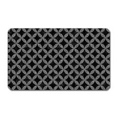 Circles3 Black Marble & Gray Denim (r) Magnet (rectangular) by trendistuff