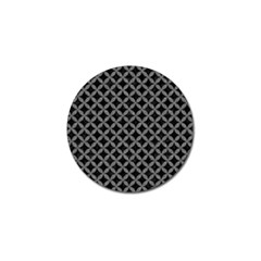Circles3 Black Marble & Gray Denim (r) Golf Ball Marker by trendistuff