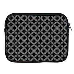 Circles3 Black Marble & Gray Denim (r) Apple Ipad 2/3/4 Zipper Cases by trendistuff