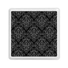 Damask1 Black Marble & Gray Denim (r) Memory Card Reader (square)  by trendistuff