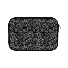 Damask2 Black Marble & Gray Denim Apple Ipad Mini Zipper Cases by trendistuff