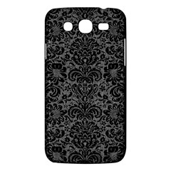Damask2 Black Marble & Gray Denim Samsung Galaxy Mega 5 8 I9152 Hardshell Case  by trendistuff