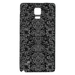 Damask2 Black Marble & Gray Denim (r) Galaxy Note 4 Back Case by trendistuff