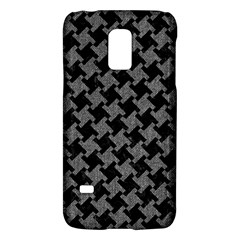Houndstooth2 Black Marble & Gray Denim Galaxy S5 Mini by trendistuff