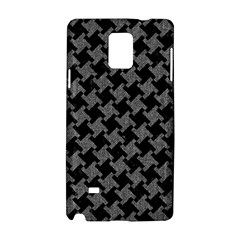 Houndstooth2 Black Marble & Gray Denim Samsung Galaxy Note 4 Hardshell Case by trendistuff