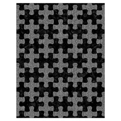 Puzzle1 Black Marble & Gray Denim Drawstring Bag (large) by trendistuff