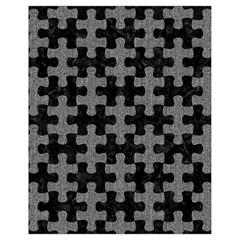 Puzzle1 Black Marble & Gray Denim Drawstring Bag (small) by trendistuff