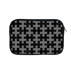 Puzzle1 Black Marble & Gray Denim Apple Macbook Pro 13  Zipper Case by trendistuff