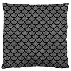 Scales1 Black Marble & Gray Denim Large Cushion Case (two Sides) by trendistuff