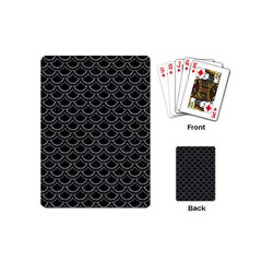 Scales2 Black Marble & Gray Denim (r) Playing Cards (mini)  by trendistuff