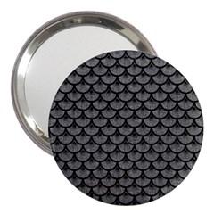 Scales3 Black Marble & Gray Denim 3  Handbag Mirrors by trendistuff