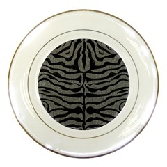 Skin2 Black Marble & Gray Denim Porcelain Plates by trendistuff