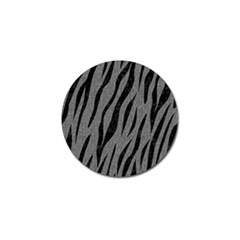 Skin3 Black Marble & Gray Denim Golf Ball Marker by trendistuff