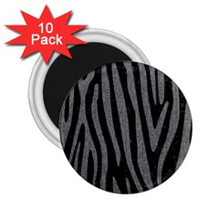 Skin4 Black Marble & Gray Denim 2 25  Magnets (10 Pack)  by trendistuff