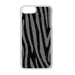 Skin4 Black Marble & Gray Denim Apple Iphone 7 Plus Seamless Case (white) by trendistuff