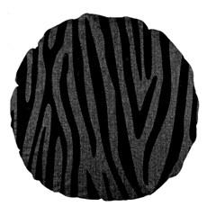 Skin4 Black Marble & Gray Denim (r) Large 18  Premium Round Cushions