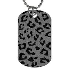 Skin5 Black Marble & Gray Denim (r) Dog Tag (one Side) by trendistuff