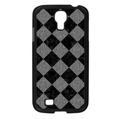 Square2 Black Marble & Gray Denim Samsung Galaxy S4 I9500/ I9505 Case (black) by trendistuff